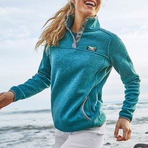 L.L. Bean women's sweater fleece pullover